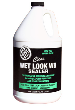 Wet Look Water Based Sealer Glaze N Seal Products