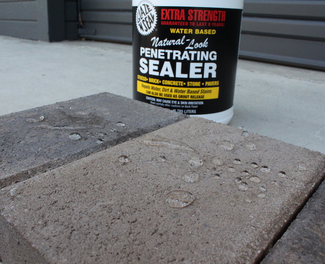 Protect against water dirt mildew and stains with for Removing dirt stains from concrete