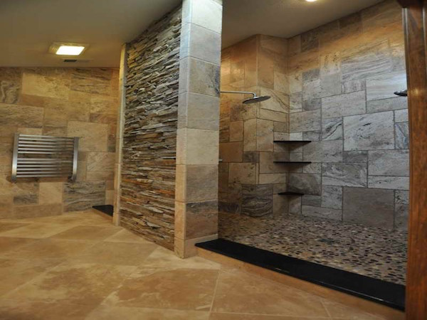 Marvelous Elegant Natural Stone Tile Bathroom Part 4